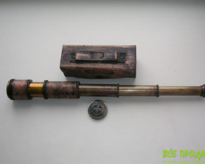 Подзорная труба Dollond London в кожаном футляре