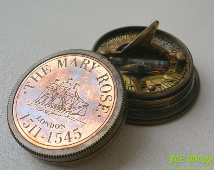Компас с солнечными часами The Mary Rose London. Новый