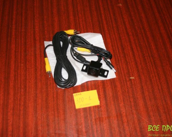 Камера заднего вида с разметкой и проводами