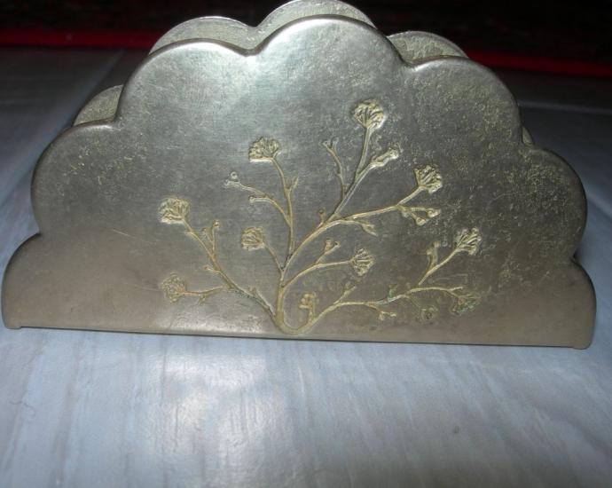 Старинная бронзовая салфетница, Германия,с клеймом!