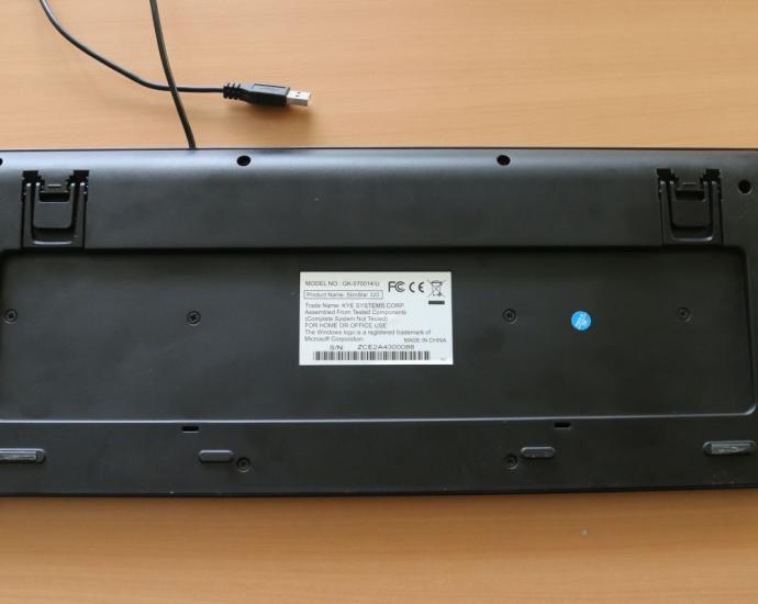 Клавіатура Genius Slimstar 320 USB Black - Водостійка