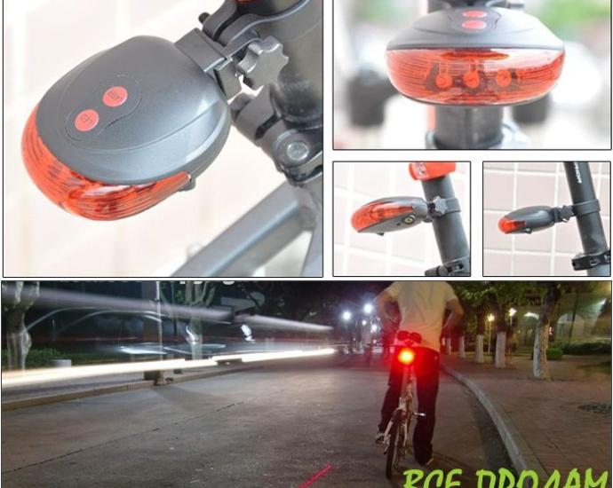 Велосипедний задній ліхтар з лазером