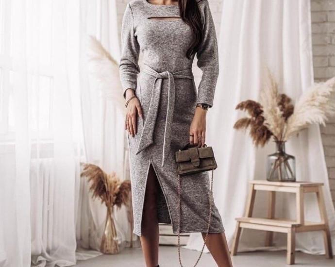 Сукня з поясом