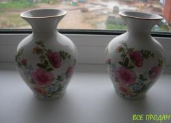 Ваза, вазочки, пара, ручная роспись, Киев, редкие
