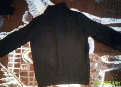 Тёплая мужская черная кофта