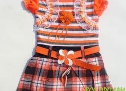Платье с пояском  для девочки -  новое