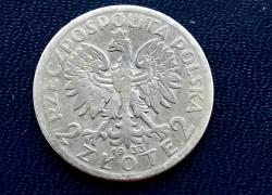Польша 2 Злотых 1933г. Серебро-750°.
